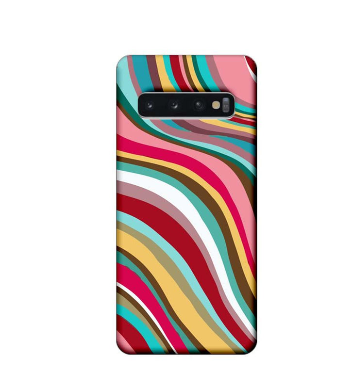 Samsung Galaxy S10 Plus Mobile Cover Printed Designer Case Stripes