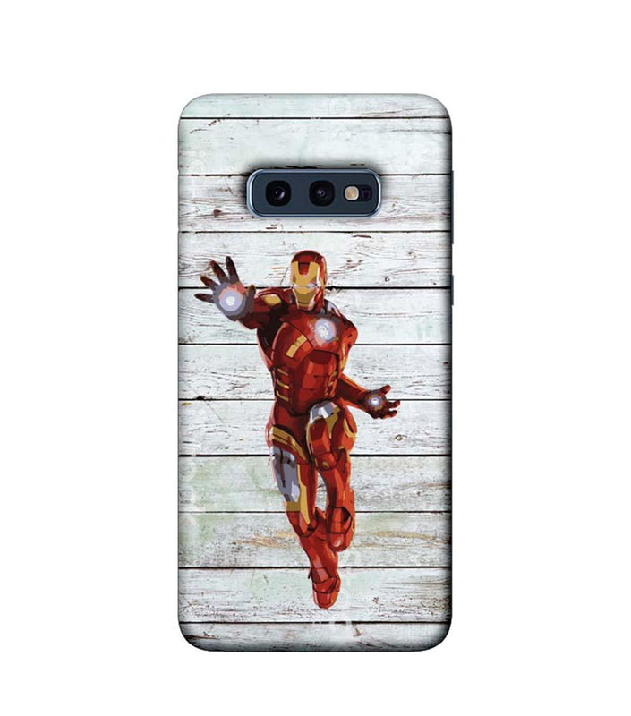 Samsung Galaxy S10e Mobile Cover Printed Designer Case Wood Ironman