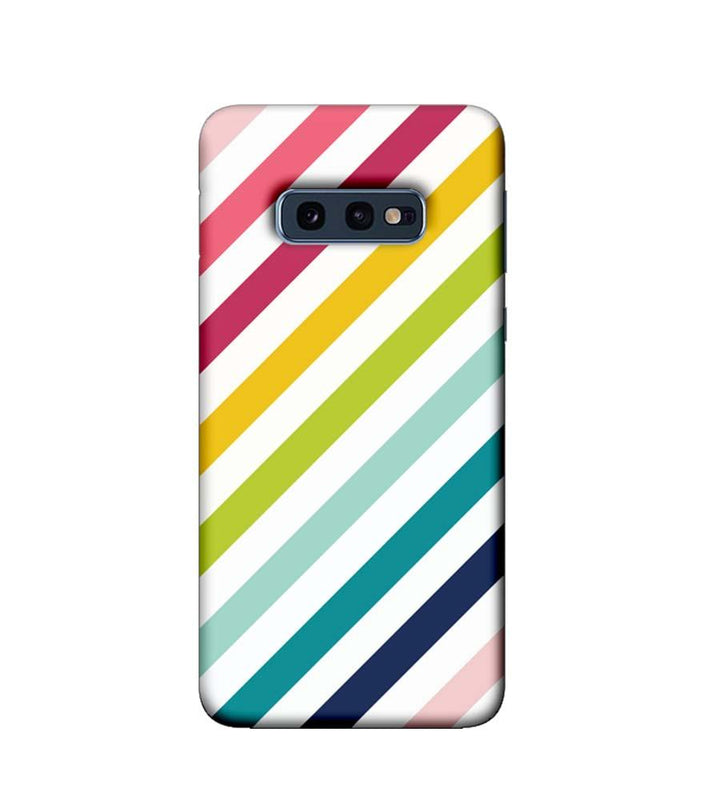 Samsung Galaxy S10e Mobile Cover Printed Designer Case Multicolour Stripes