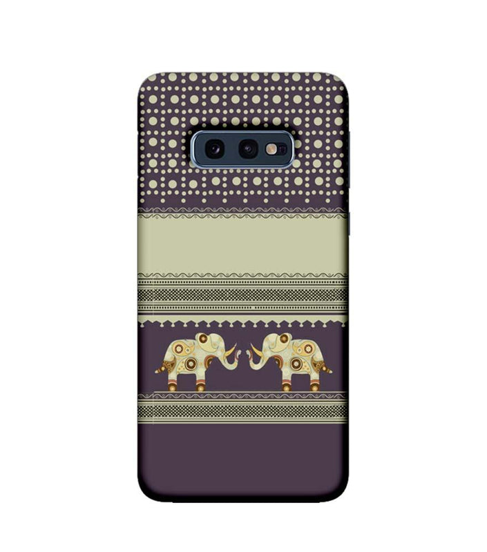 Samsung Galaxy S10e Mobile Cover Printed Designer Case Elephants Indian Art