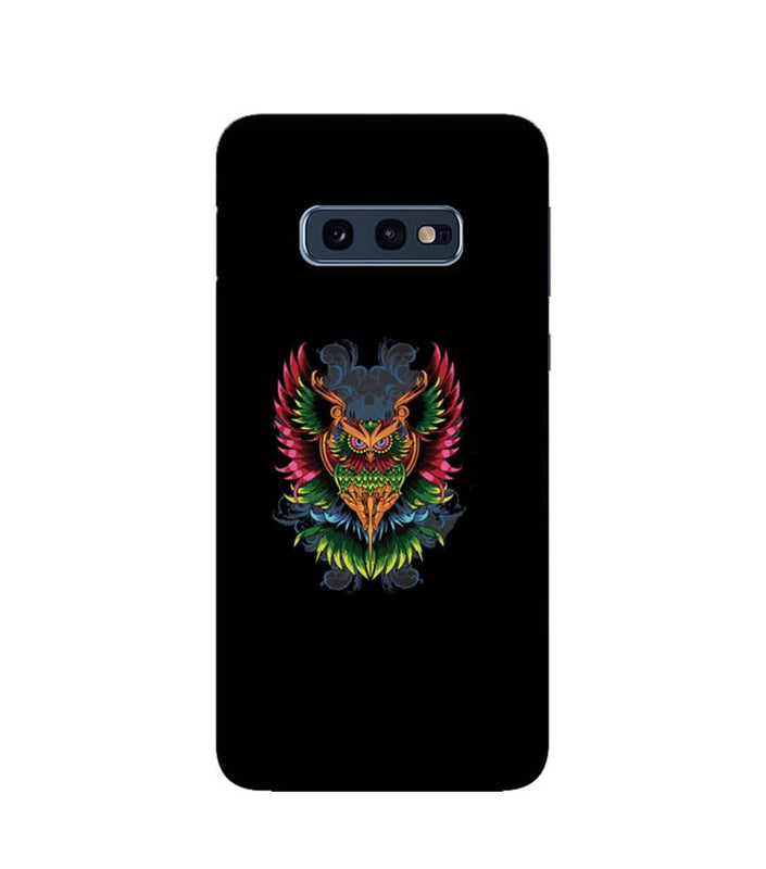 Samsung Galaxy S10e Mobile Cover Printed Designer Case colourful owl 2.0