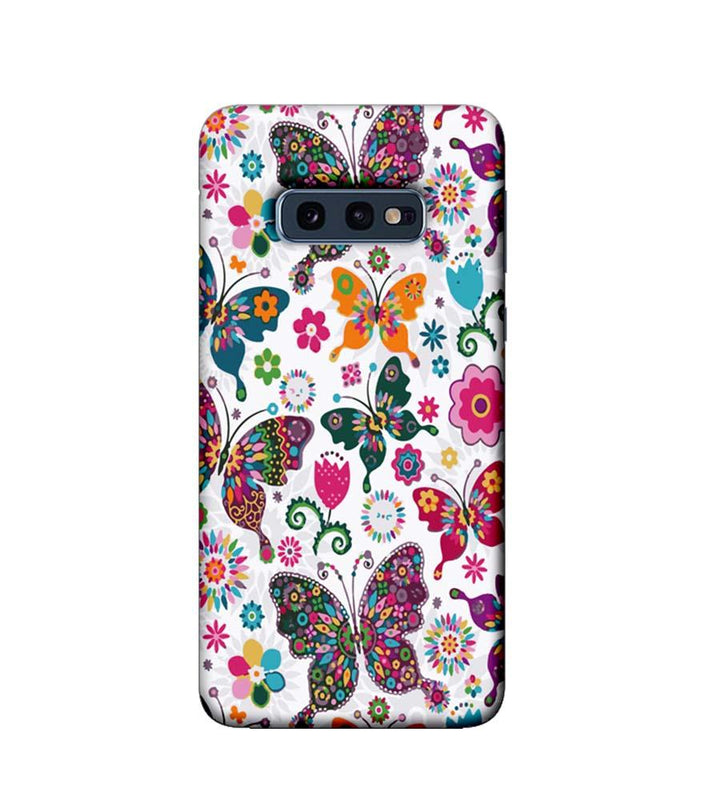 Samsung Galaxy S10e Mobile Cover Printed Designer Case Multi Colour Butterflies Pattern
