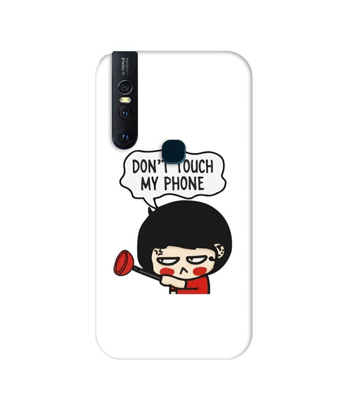 Vivo Z1x Mobile Cover Printed Designer Case Don't Touch My Phone 2.0