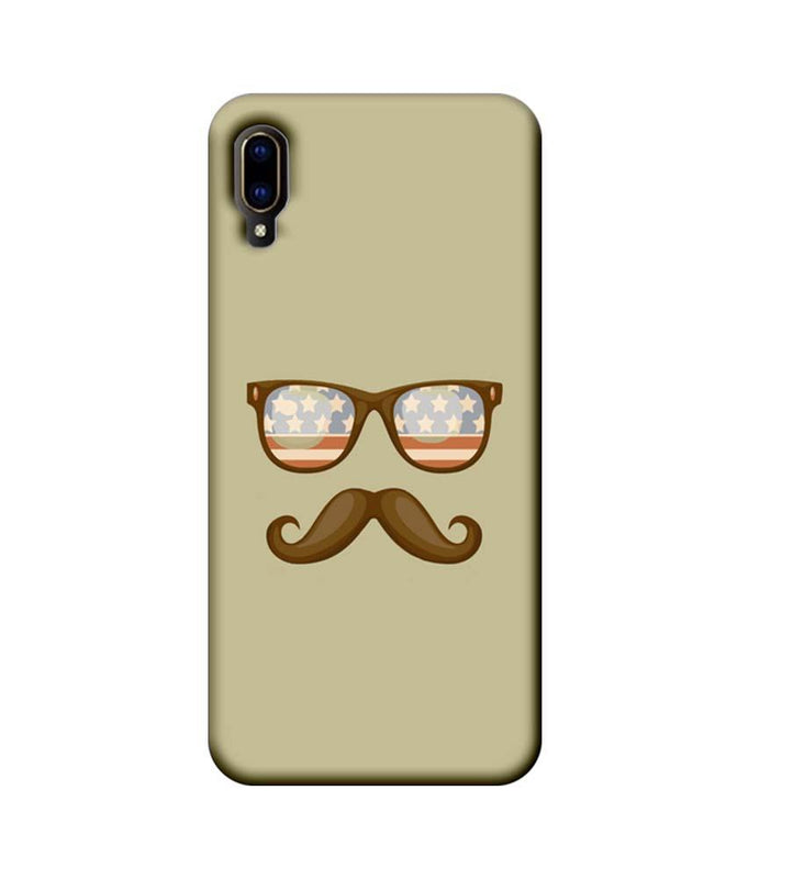 Vivo V11 Pro Mobile Cover Printed Designer Case Spect and Moustache