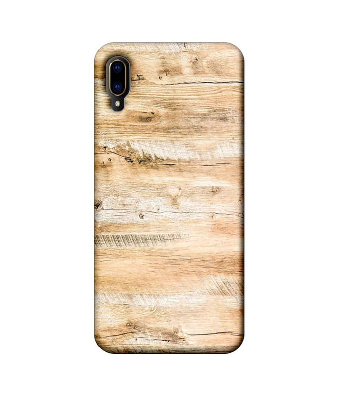 Vivo V11 Pro Mobile Cover Printed Designer Case Light Brown Wood