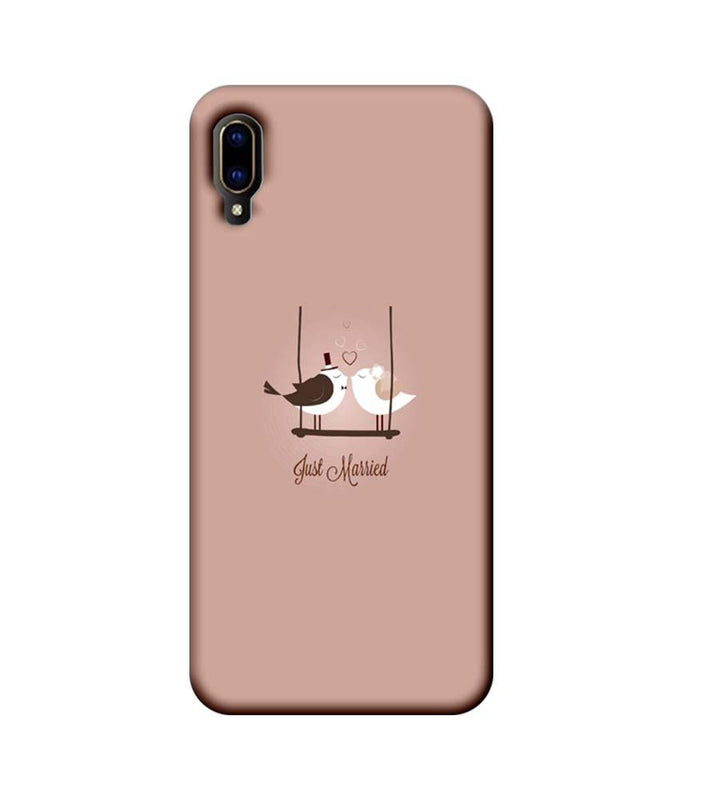 Vivo V11 Pro Mobile Cover Printed Designer Case Just Married