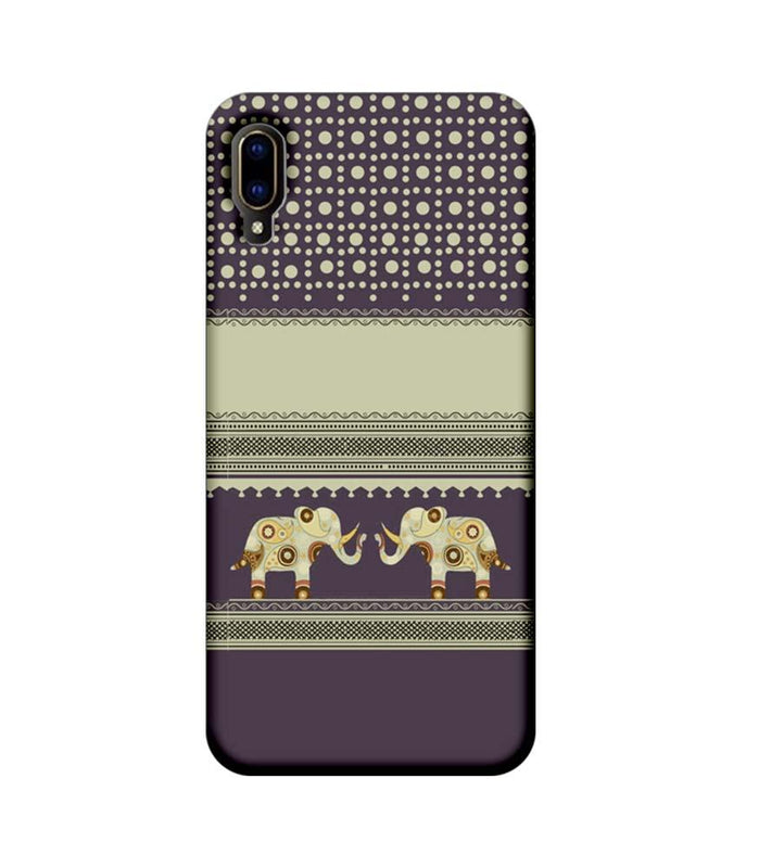 Vivo V11 Pro Mobile Cover Printed Designer Case Elephants Indian Art