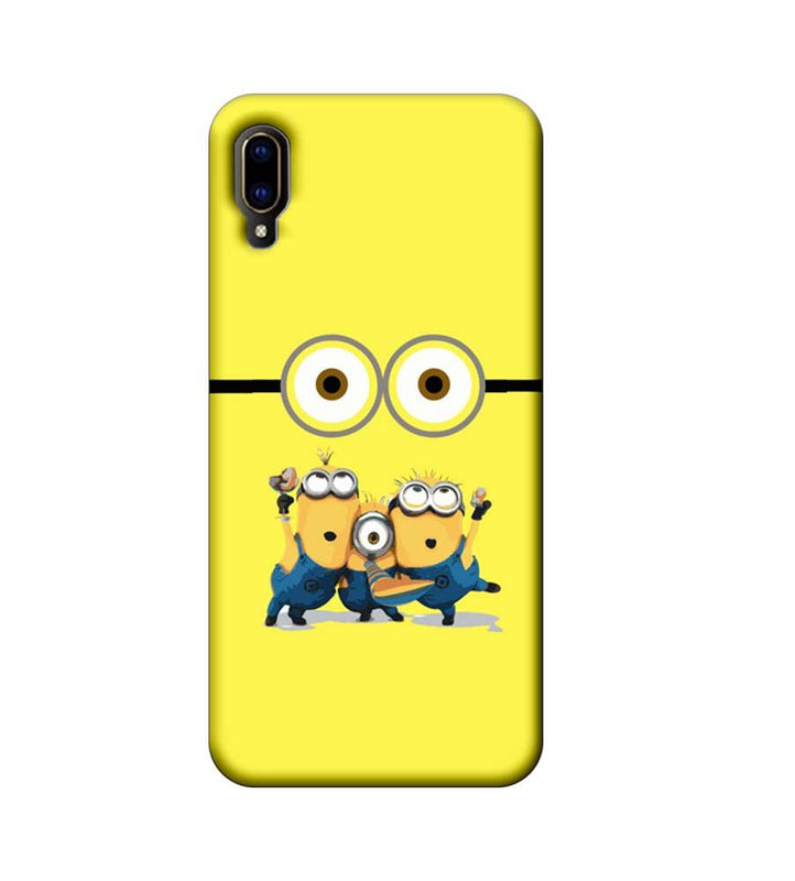 Vivo V11 Pro Mobile Cover Printed Designer Case Minions