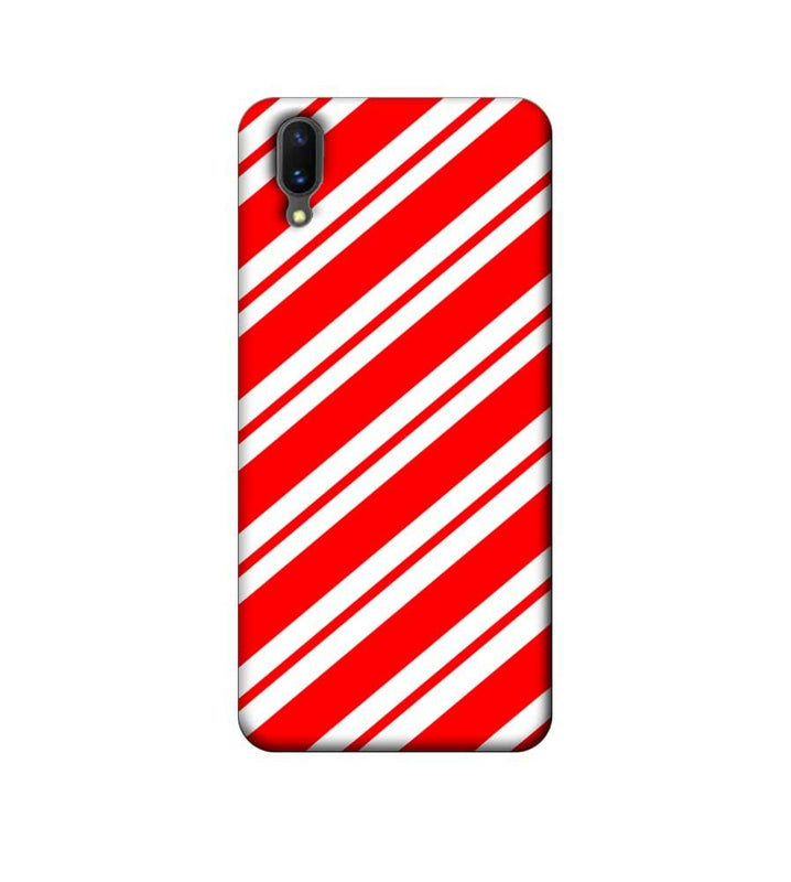 Vivo X21 Mobile Cover Printed Designer Case Red and White Stripes