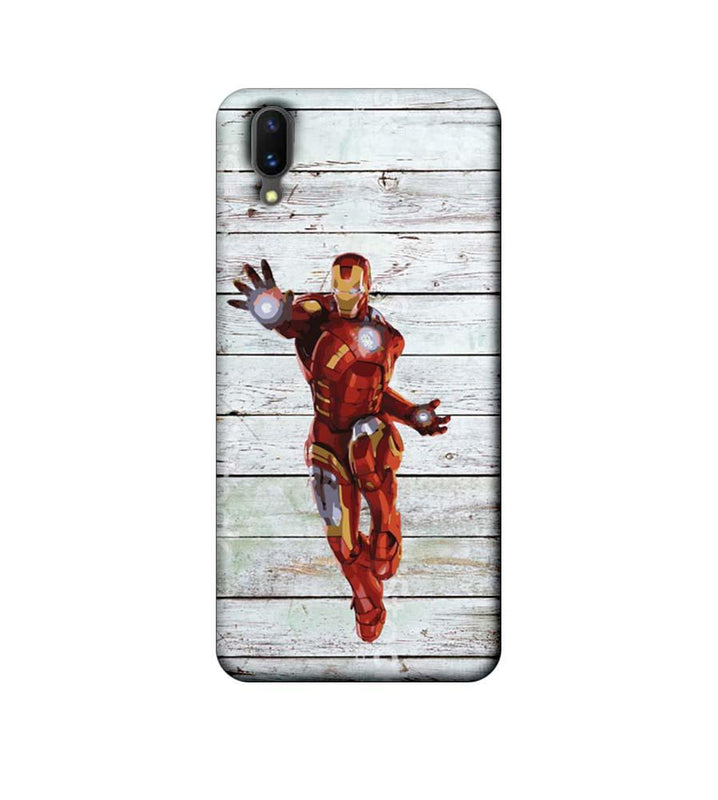 Vivo X21 Mobile Cover Printed Designer Case Wood Ironman