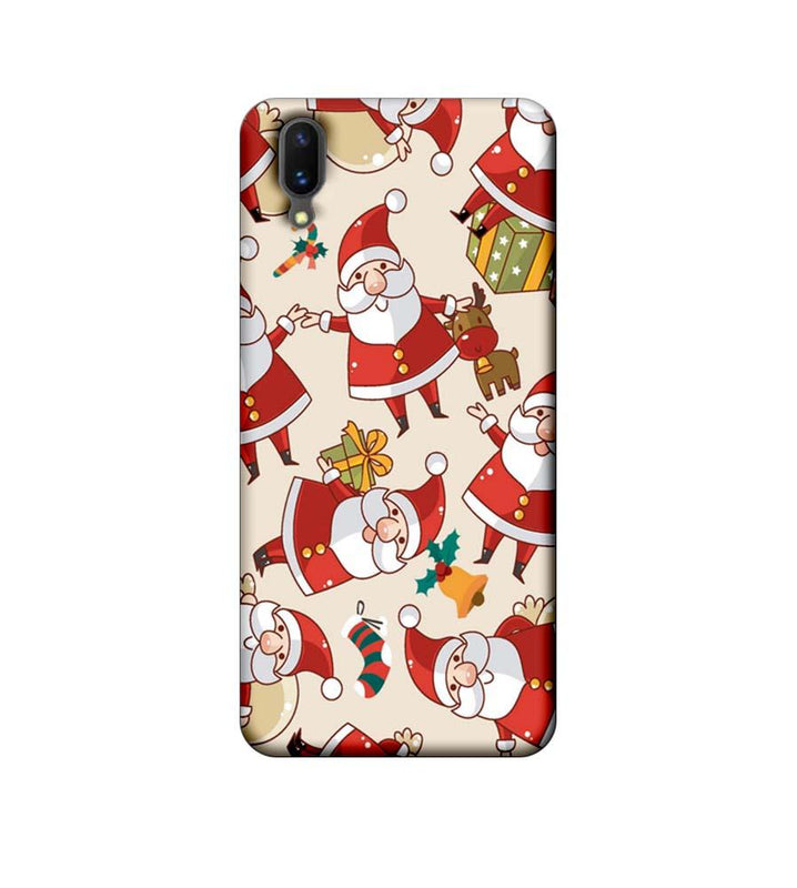 Vivo X21 Mobile Cover Printed Designer Case Santa Pattern