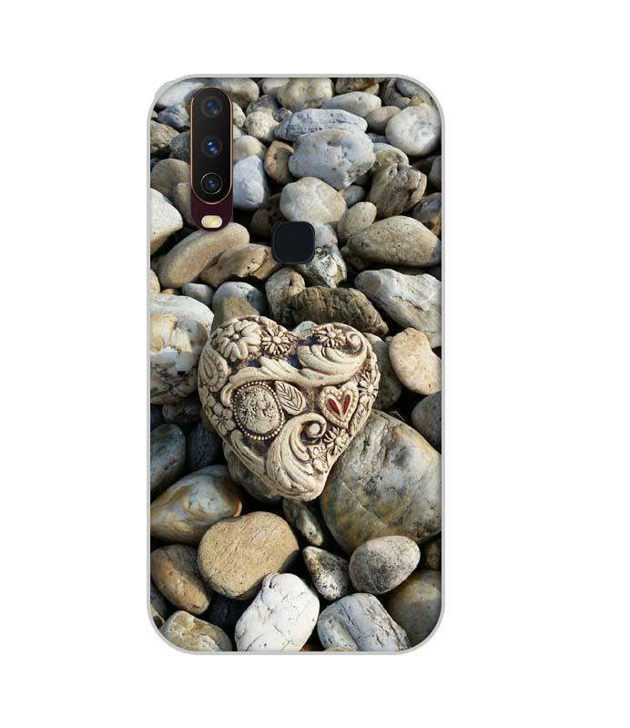 Vivo U10 Mobile Cover Printed Designer Case Heart Stone