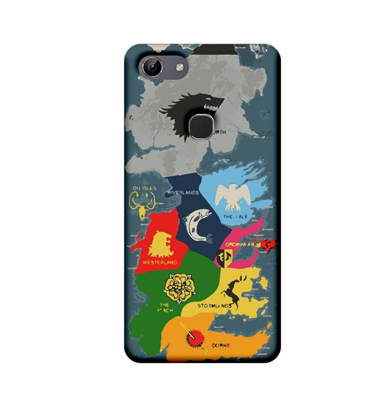 Vivo Y81 Mobile Cover Printed Designer Case Game of Throne Map