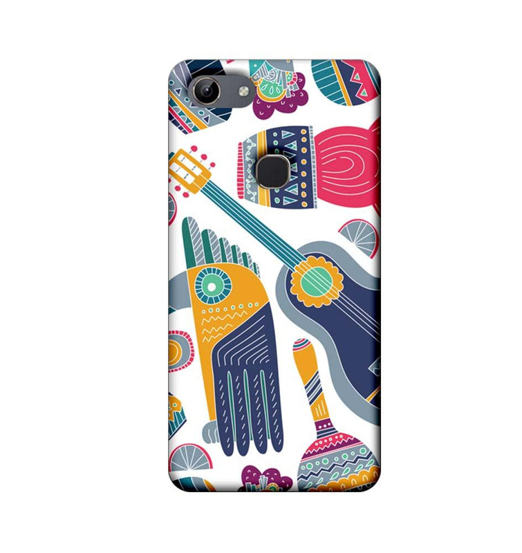 Vivo Y81 Mobile Cover Printed Designer Case Guitar Pattern 2.0