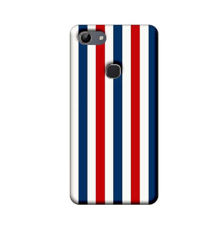 Vivo Y81 Mobile Cover Printed Designer Case Blue and Red Stripes