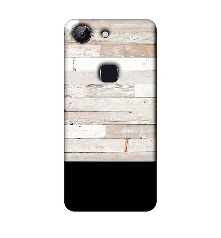 Vivo Y83 Mobile Cover Printed Designer Case Black and White Wood