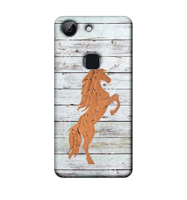Vivo Y83 Mobile Cover Printed Designer Case Wood Horse