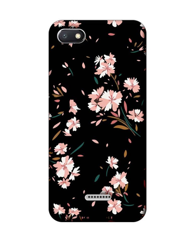 Xiaomi Redmi 6A Mobile Cover Printed Designer Case Floral Two