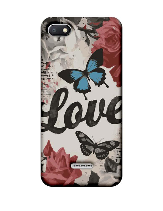 Xiaomi Redmi 6A Mobile Cover Printed Designer Case Love