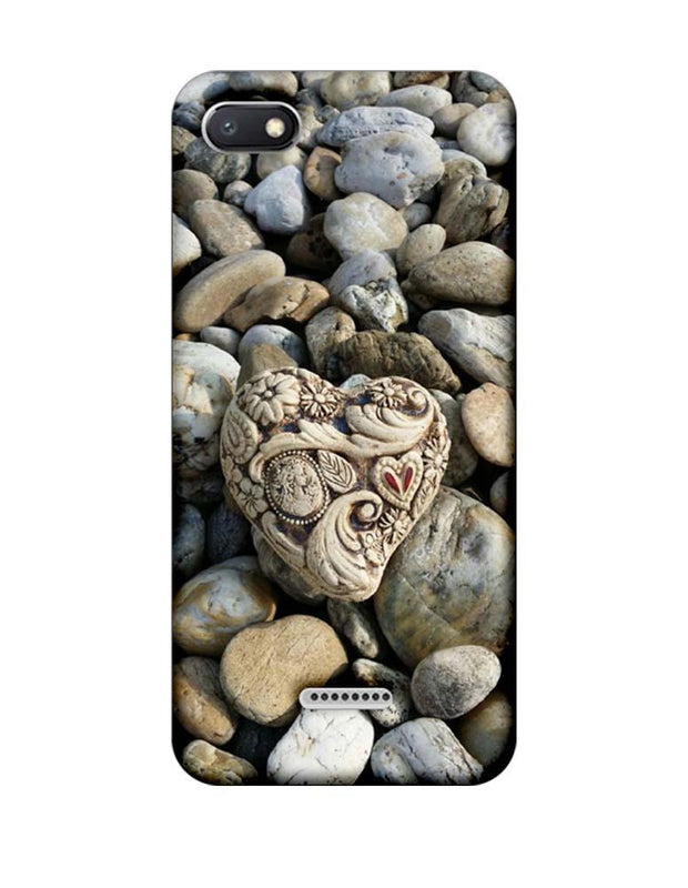 Xiaomi Redmi 6A Mobile Cover Printed Designer Case Heart Stone