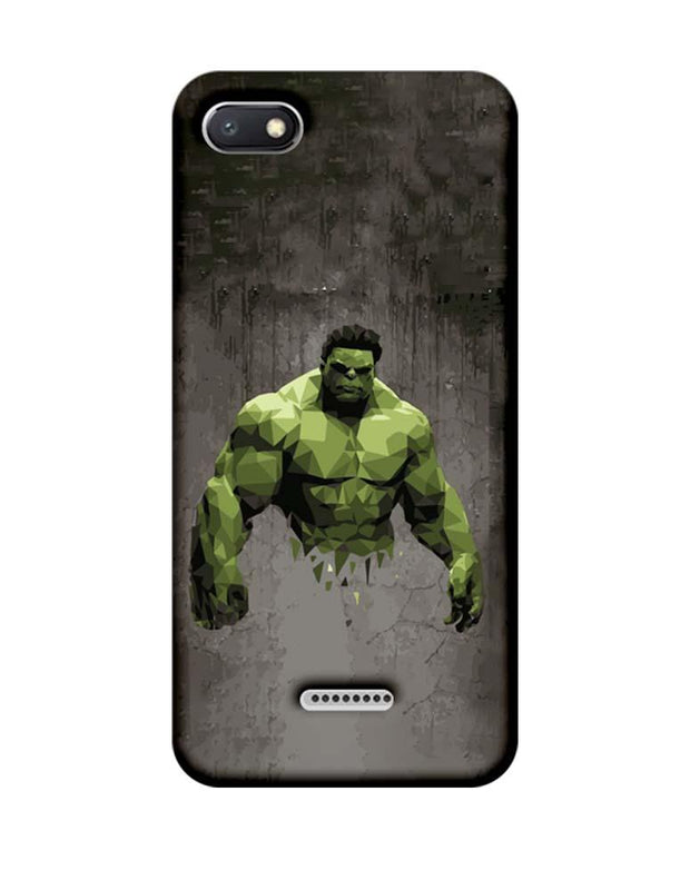Xiaomi Redmi 6A Mobile Cover Printed Designer Case Super Power Hulk