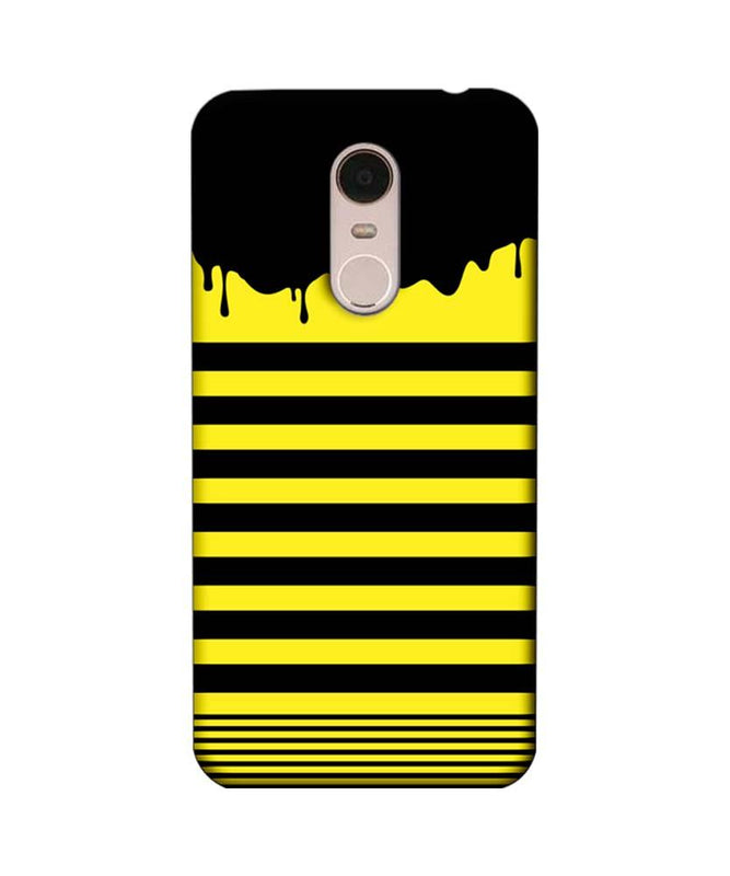 Xiaomi Redmi Note 5 Mobile Cover Printed Designer Case Black and Yellow Brush Stroke