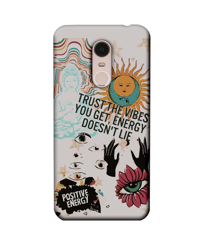 Xiaomi Redmi Note 5 Mobile Cover Printed Designer Case Positive Energy