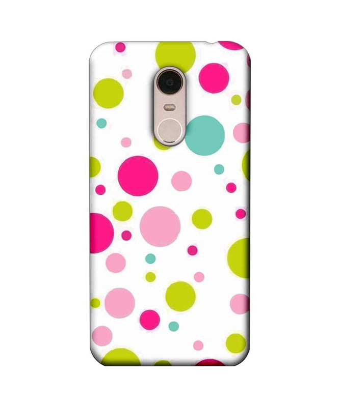 Xiaomi Redmi Note 5 Mobile Cover Printed Designer Case Multi Colour Polka Dots