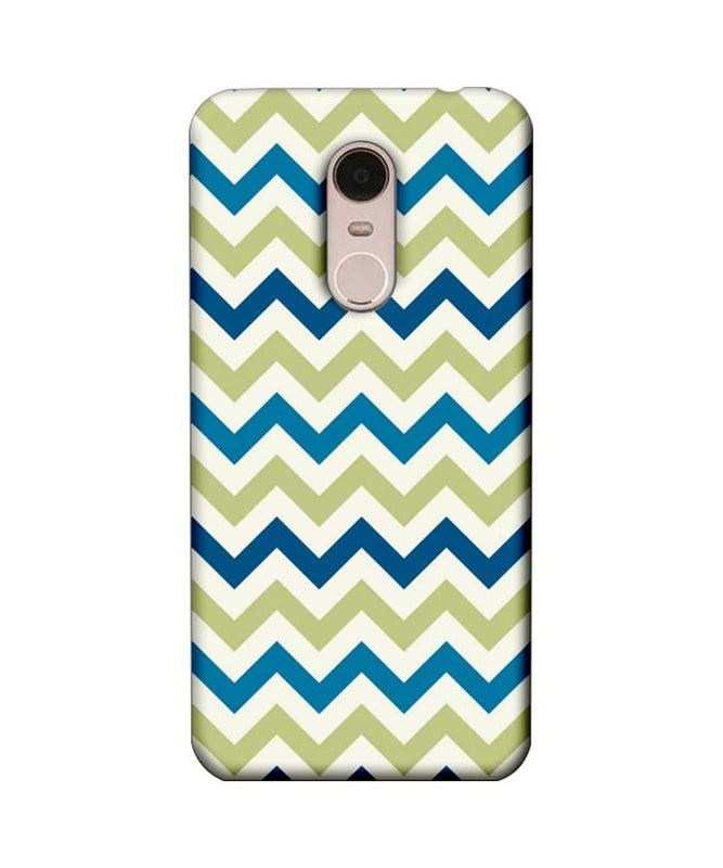 Xiaomi Redmi Note 5 Mobile Cover Printed Designer Case Light Green Zigzag Stripes