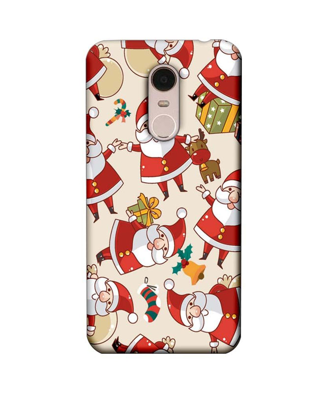 Xiaomi Redmi Note 5 Mobile Cover Printed Designer Case Santa Pattern