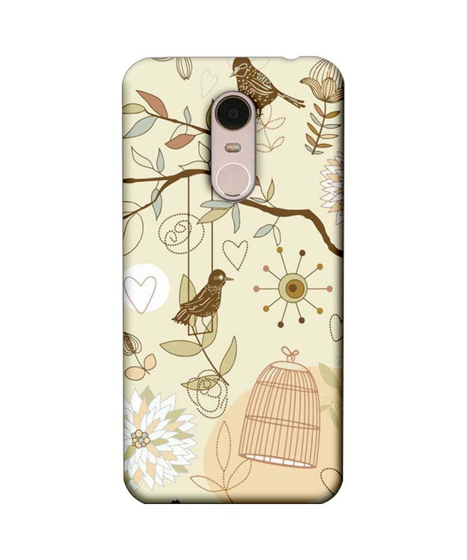 Xiaomi Redmi Note 5 Mobile Cover Printed Designer Case Bird illustrator