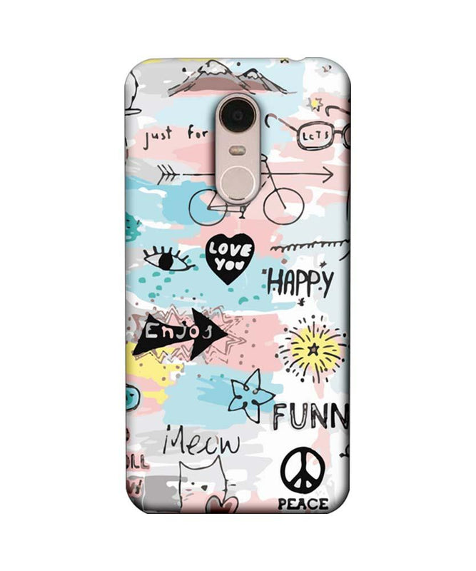 Xiaomi Redmi Note 5 Mobile Cover Printed Designer Case Enjoy Happily