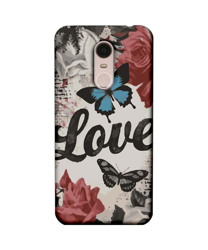 Xiaomi Redmi Note 5 Mobile Cover Printed Designer Case Love