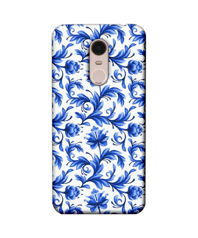 Xiaomi Redmi Note 5 Mobile Cover Printed Designer Case Blue Floral 2