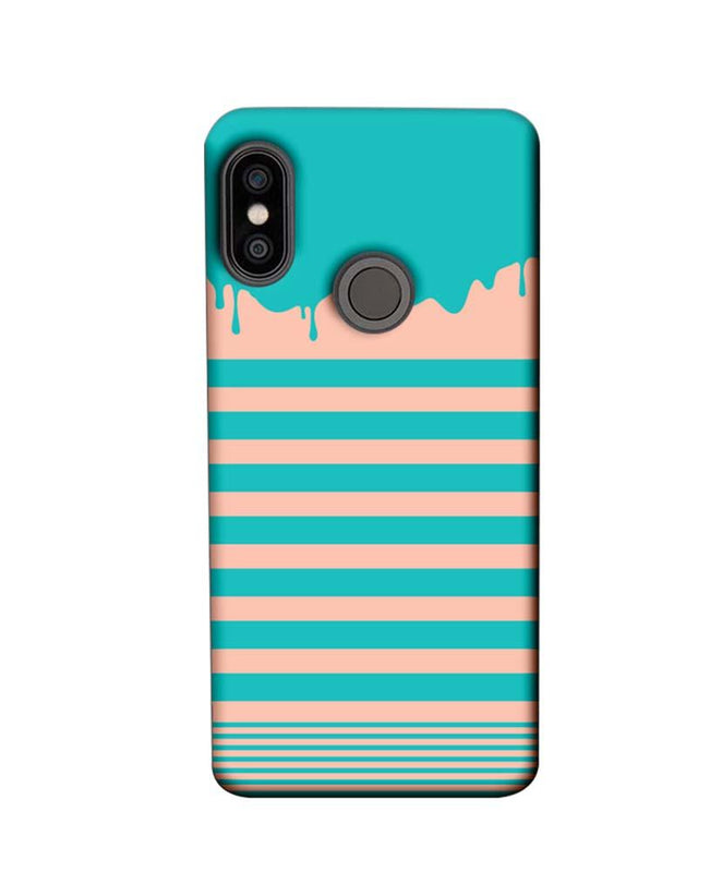 Xiaomi Redmi Note 5 Pro Mobile Cover Printed Designer Case Stripes and Brush Stroke