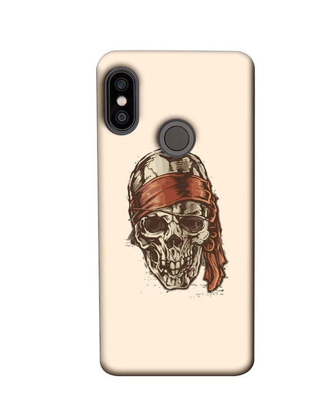 Xiaomi Redmi Note 5 Pro Mobile Cover Printed Designer Case Skull