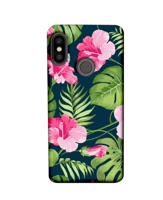Xiaomi Redmi Note 5 Pro Mobile Cover Printed Designer Case Pink Floral