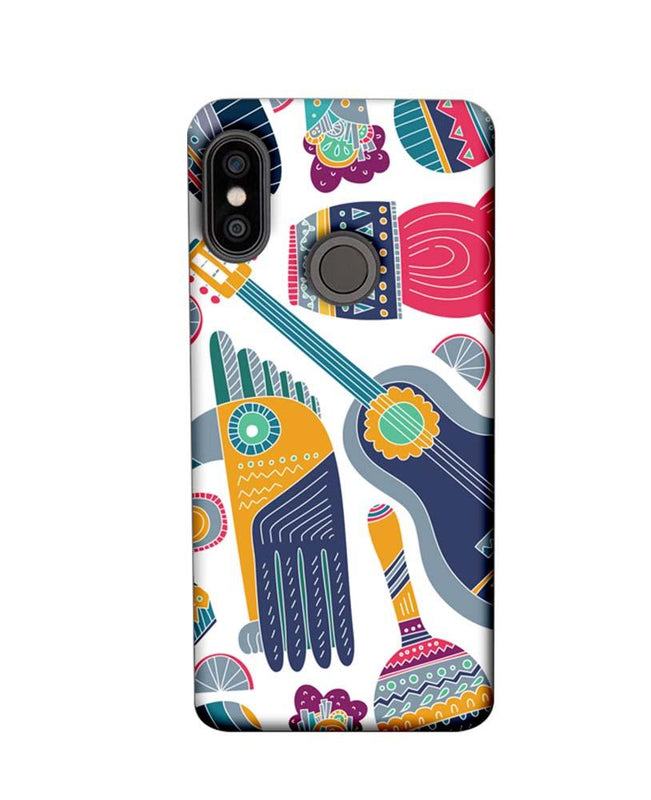 Xiaomi Redmi Note 5 Pro Mobile Cover Printed Designer Case Guitar Pattern 2.0