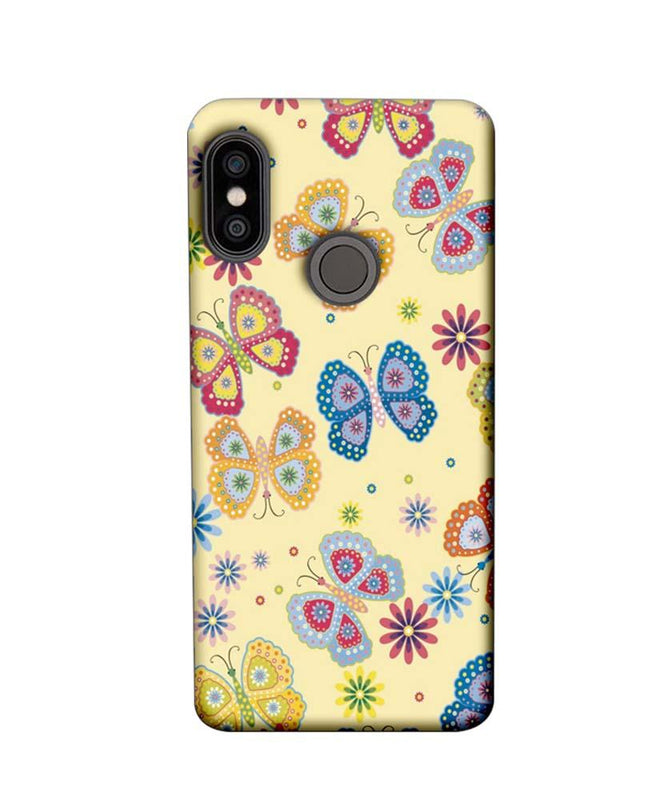 Xiaomi Redmi Note 5 Pro Mobile Cover Printed Designer Case Butterflies