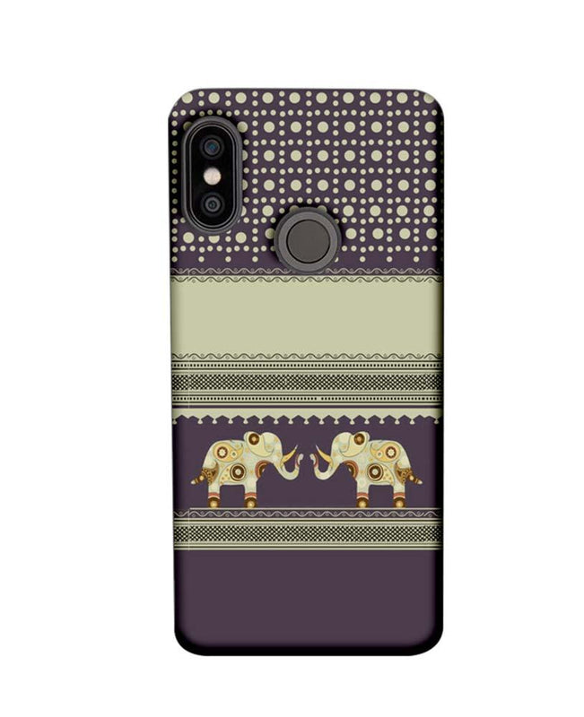 Xiaomi Redmi Note 5 Pro Mobile Cover Printed Designer Case Elephants Indian Art