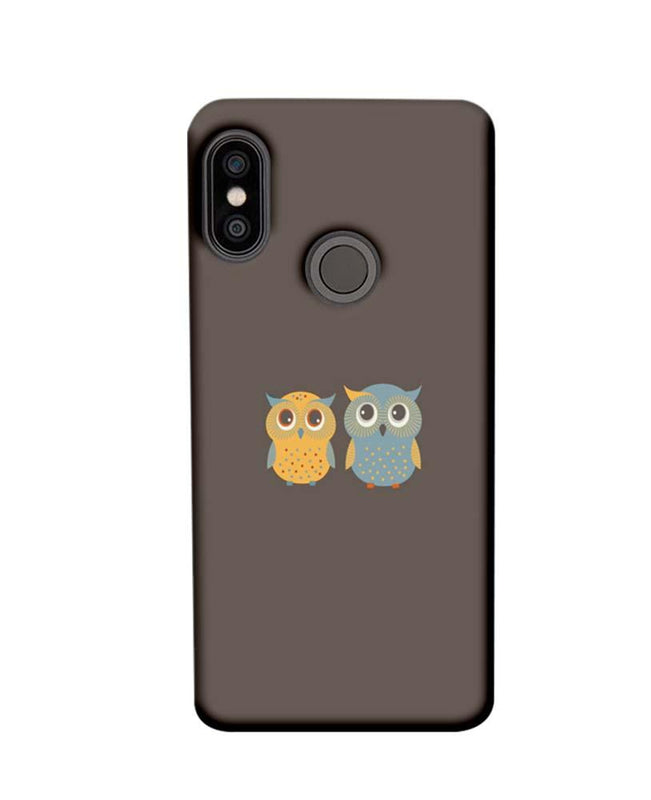 Xiaomi Redmi Note 5 Pro Mobile Cover Printed Designer Case Dual Owls