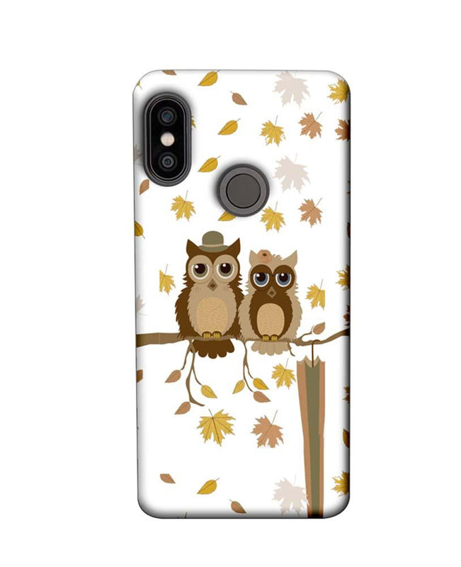 Xiaomi Redmi Note 5 Pro Mobile Cover Printed Designer Case Owls