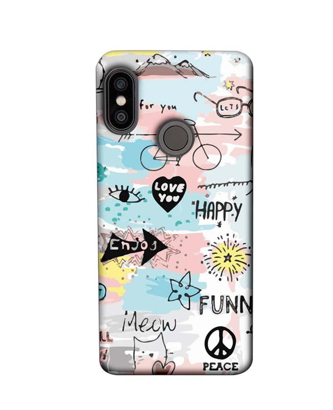 Xiaomi Redmi Note 5 Pro Mobile Cover Printed Designer Case Enjoy Happily