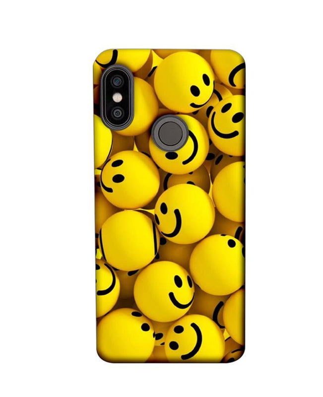 Xiaomi Redmi Note 5 Pro Mobile Cover Printed Designer Case Yellow Emoji