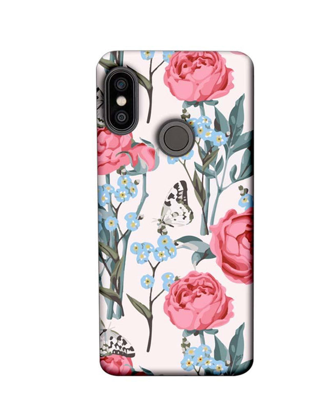 Xiaomi Redmi Note 5 Pro Mobile Cover Printed Designer Case Pink Roses