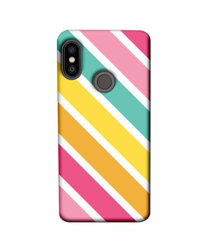 Xiaomi Redmi Note 5 Pro Mobile Cover Printed Designer Case Stripes Pattern One