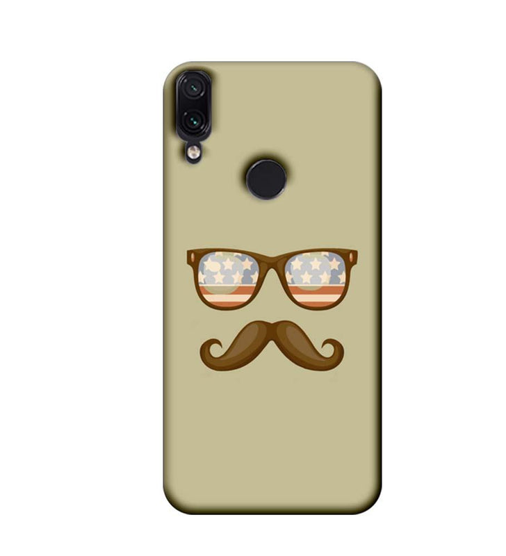 Xiaomi Redmi Note 7 Mobile Cover Printed Designer Case Spect and Moustache