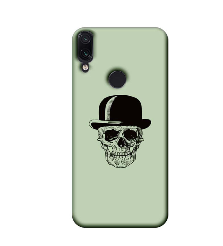 Xiaomi Redmi Note 7 Mobile Cover Printed Designer Case Skull head with Hat