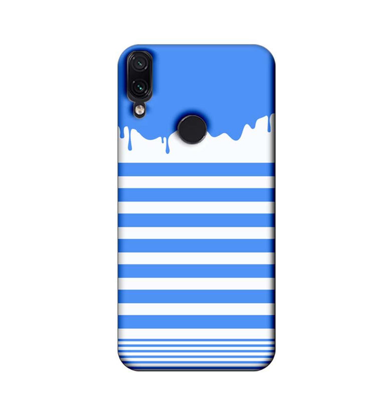 Xiaomi Redmi Note 7 Mobile Cover Printed Designer Case Blue Brush Stroke