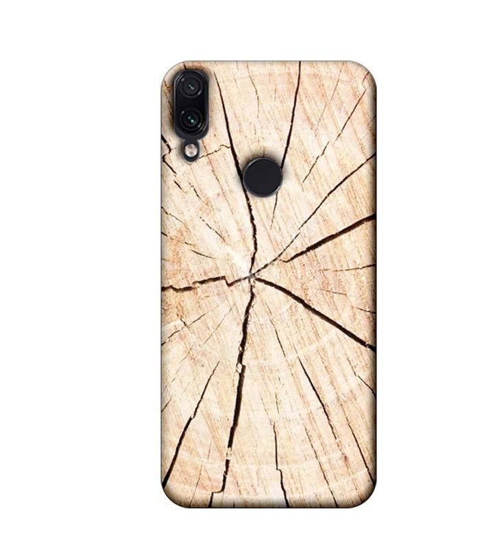 Xiaomi Redmi Note 7 Mobile Cover Printed Designer Case Crack Wood